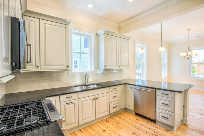 Eco-friendly cabinetry in a custom kitchen in myrtle beach
