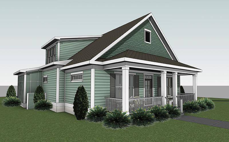 Savannah home plan rendering