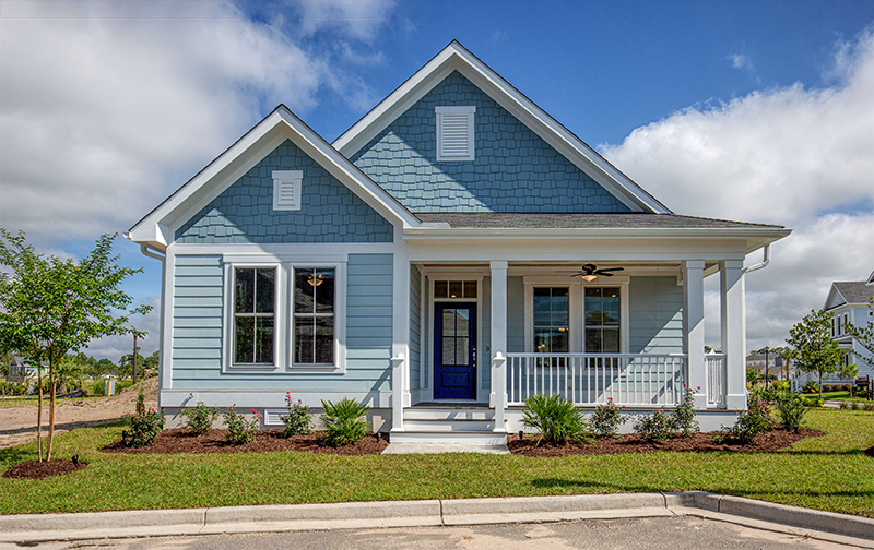 The Jamestown single story home plan available at living dunes