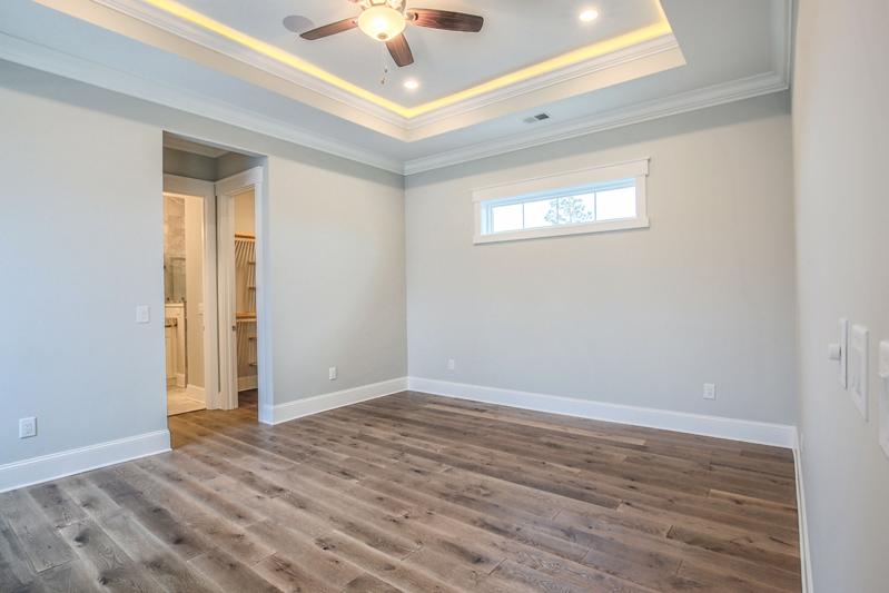 Tray Ceiling White Room Window Open Door