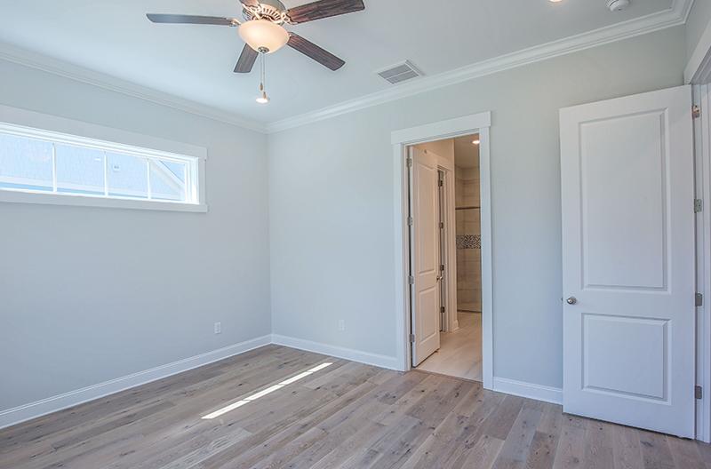 Bright room closet door open bathroom and closet