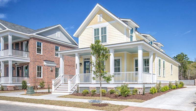 Southern style home with dormers big fornt porch